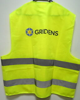 Heijastinliivi Gridens logolla