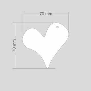 Helkur süda 70x70mm