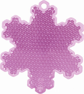Reflector snowflake 58x66mm pink