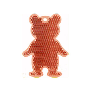 Reflector bear 51x70mm red