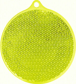 Reflector round 55x61mm yellow