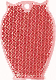 Reflector owl 46x65mm red